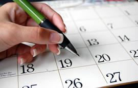 Calendar for MDP